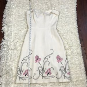 Laundry By Shelli Segal Dresses - 90s Laundry Floral Embroidered A Line Dress